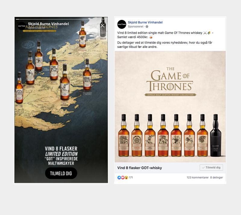 Game of thrones facebook kampagne